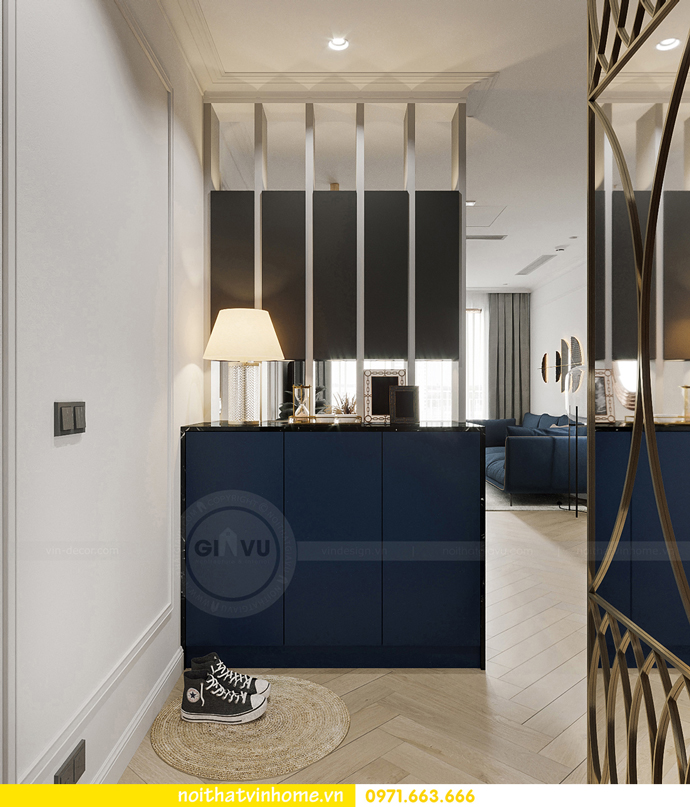 thiết kế nội thất căn hộ Vinhomes Smart City tòa S102 căn 17 1