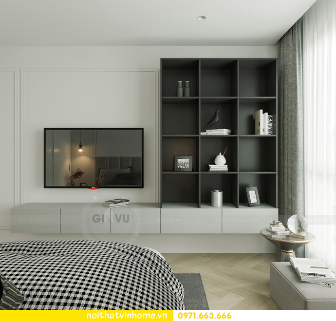 thiết kế nội thất căn hộ Vinhomes Smart City tòa S102 căn 17 10