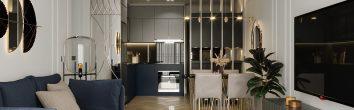 thiết kế nội thất căn hộ Vinhomes Smart City tòa S102 căn 17
