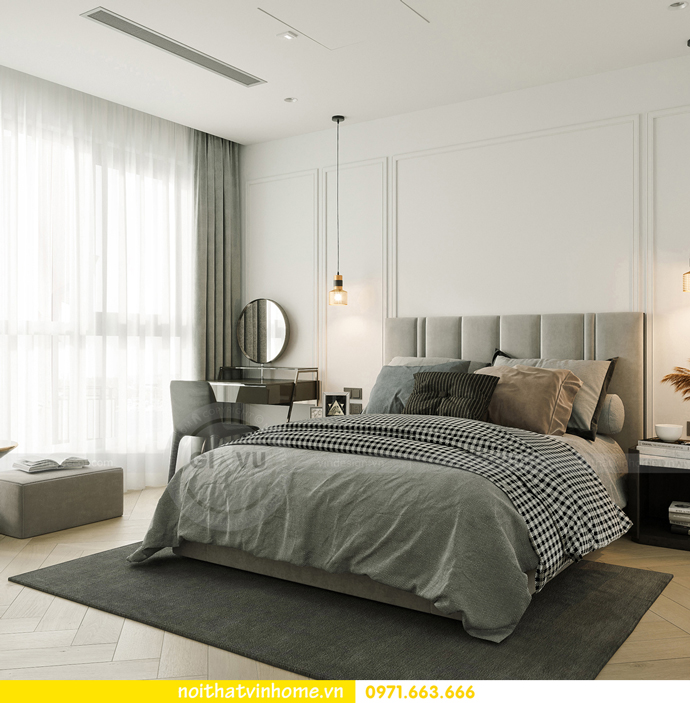 thiết kế nội thất căn hộ Vinhomes Smart City tòa S102 căn 17 8