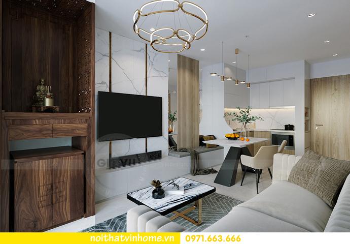 thiết kế và thi công nội thất Smart City tòa S201 căn 2903 3