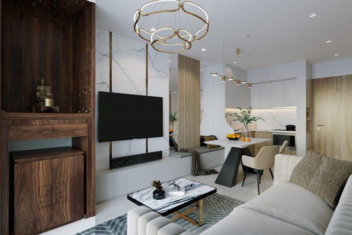 thiết kế và thi công nội thất Smart City tòa S201 căn 2903