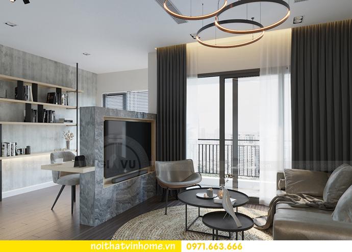 thiết kế nội thất chung cư Vinhomes Smart City tòa S101 căn 11 3