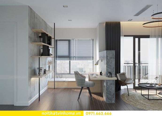 thiết kế nội thất chung cư Vinhomes Smart City tòa S101 căn 11 4