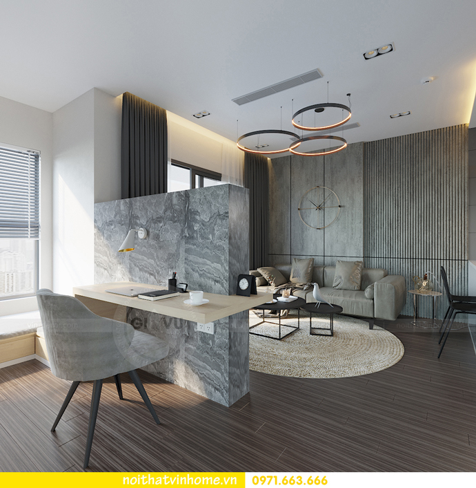 thiết kế nội thất chung cư Vinhomes Smart City tòa S101 căn 11 5