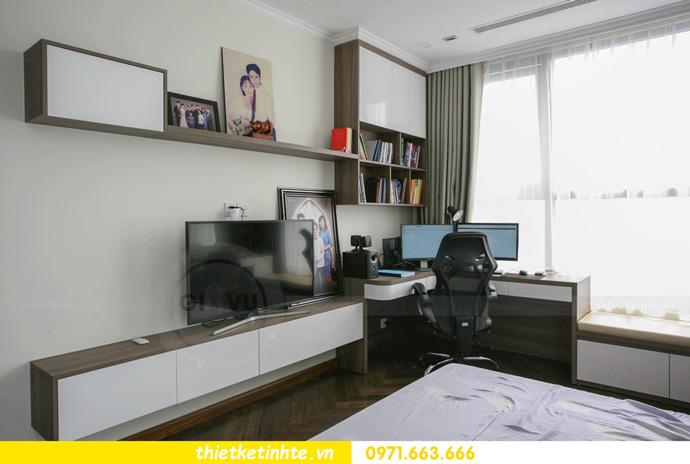 thi công nội thất căn hộ Vinhomes Smart City thực tế 15