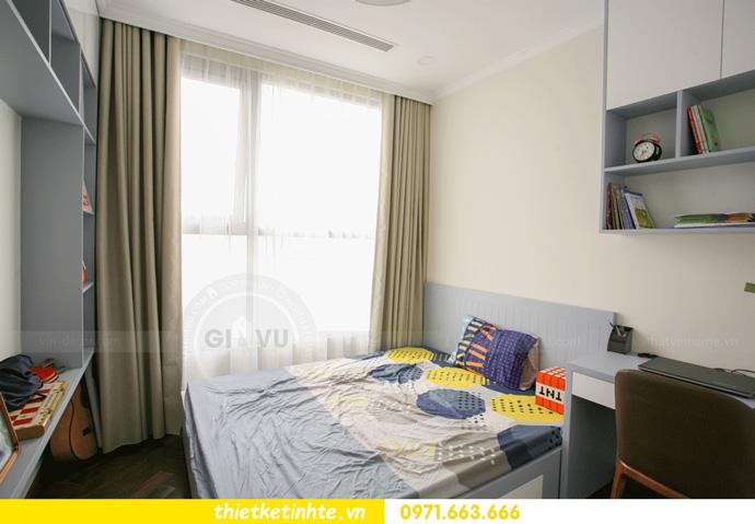 thi công nội thất căn hộ Vinhomes Smart City thực tế 16