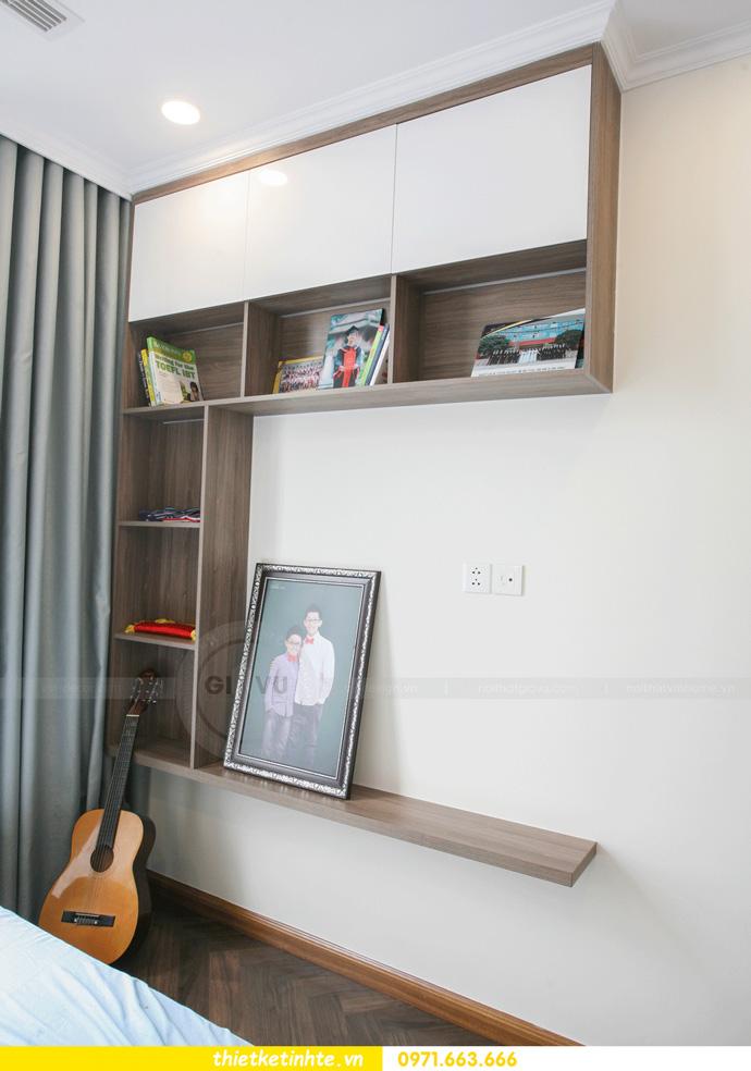 thi công nội thất căn hộ Vinhomes Smart City thực tế 18