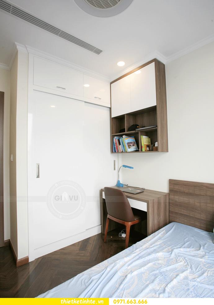 thi công nội thất căn hộ Vinhomes Smart City thực tế 20