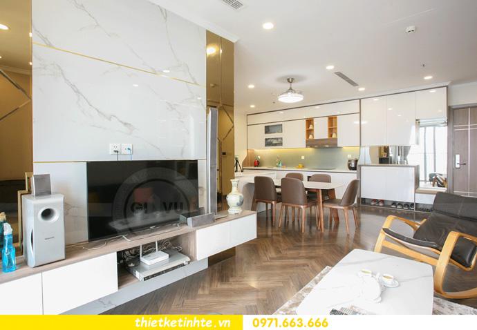 thi công nội thất căn hộ Vinhomes Smart City thực tế 6