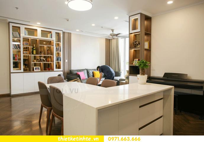 thi công nội thất căn hộ Vinhomes Smart City thực tế 7